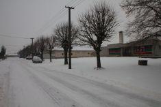 Zima u nás v obci