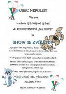 Plakát na show se zvířátky