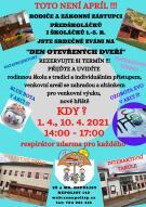Den otevřených dveří v základní škole, duben 2021